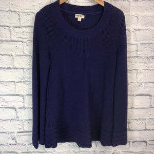 NWT! Woven Long Sleeve Sweater